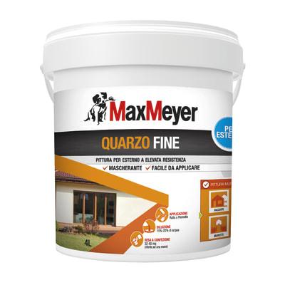 Pittura al quarzo per esterno Max Meyer bianco 4 L