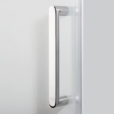 Doccia con porta pieghevole e lato fisso Quad 87.5 - 90,5 x 77.5 - 79 cm, H 190 cm cristallo 6 mm serigrafato/silver