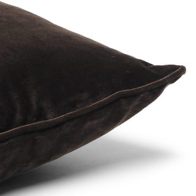 Cuscino Velluto marrone 30 x 50 cm