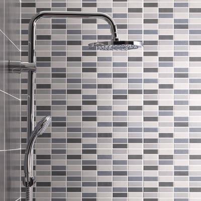 Piastrella Sirio Muretto 50 x 20 cm grigio