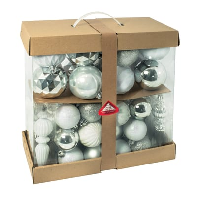 Box pendenti bianchi e argento misure assortite