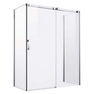 Porta doccia scorrevole Master 117-119, H 196 cm vetro temperato 8 mm trasparente/argento lucido