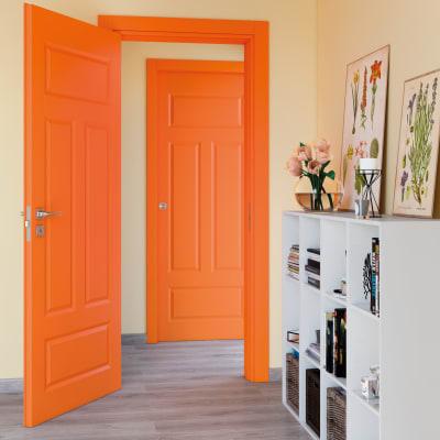 Porta da interno battente Coconut Groove arancio 80 x H 210 cm sx