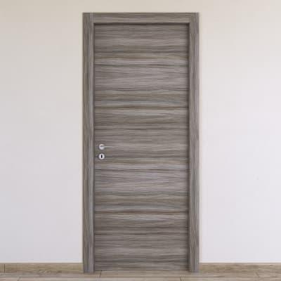 Porta da interno battente Cover palissandro grigio 80 x H 210 cm reversibile