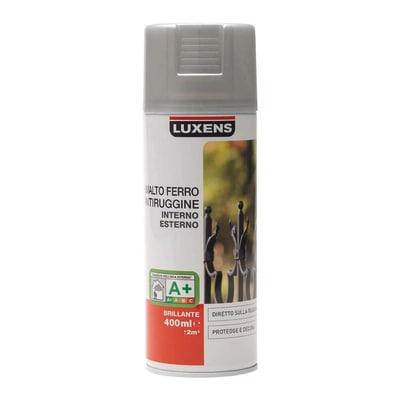 Smalto per ferro antiruggine spray Luxens alluminio RAL 9006 brillante 0,4 L