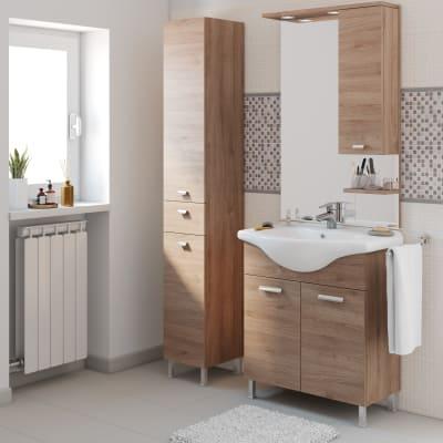 Mobile bagno rimini rovere l 75 cm prezzi e offerte online for Mobile bagno doppio lavabo leroy merlin