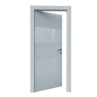 Porta da interno battente Melangè bianco 80 x H 210 cm sx