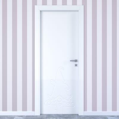 Porta da interno battente Dwarf white bianco 70 x H 210 cm sx