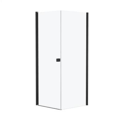 Doccia con porta battente e lato fisso Neo 67 - 69 x 77 - 79 cm, H 200 cm vetro temperato 6 mm cromo PVD