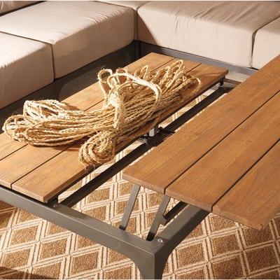 Tavolino pieghevole Peloponneso, 123 x 84 cm marrone