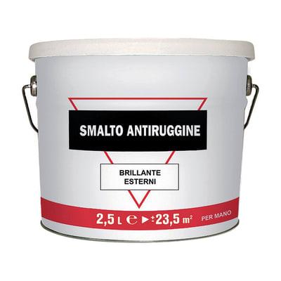 Smalto per ferro antiruggine grigio brillante 2,5 L