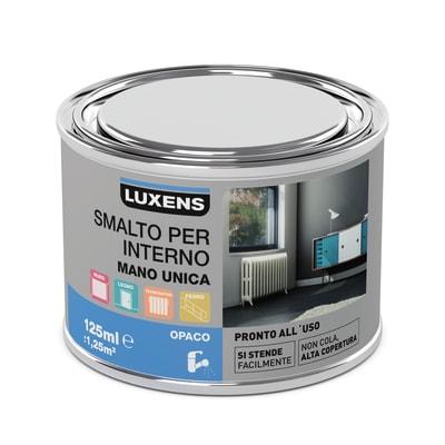 Smalto manounica Luxens all'acqua Grigio Granito 3 opaco 0.125 L