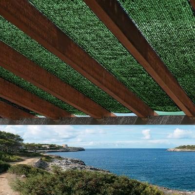 Rete ombreggiante Sun-net verde L 4 x H 3 m