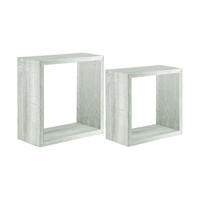 Set 2 cubi Spaceo rovere sbiancato, sp 2,2 cm