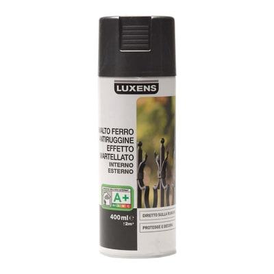 Smalto per ferro antiruggine spray Luxens grigio martellato 0,4 L