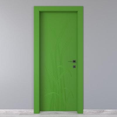 Porta da interno battente Blades green verde 60 x H 210 cm sx