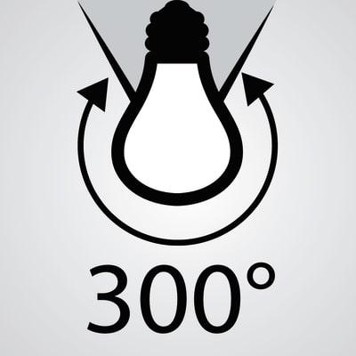 3 lampadine LED Lexman E14 =40W oliva luce calda 300°