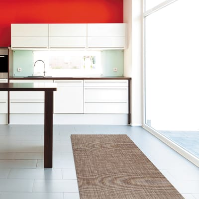 Tappetino cucina antiscivolo Digit texture beige 52 x 230 cm