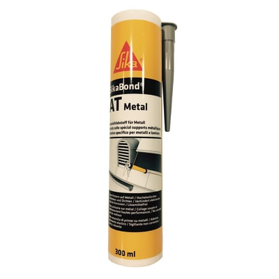 Sigillante ibrido SikaBond AT Metal marrone Sika 300 ml, per alluminio, acciaio, metallo
