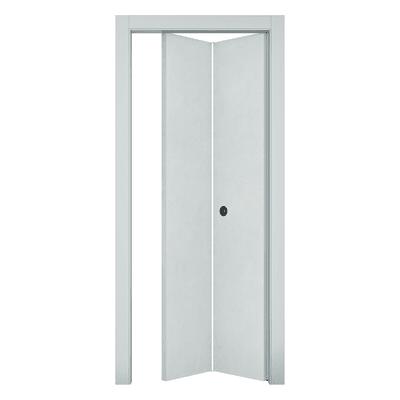 Porta da interno pieghevole Hunk cemento calce 80 x H 210 cm dx