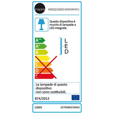 Faretto da incasso Lindi bianco LED integrato orientabile tonda Ø 9 cm 7 W = 500 Lumen luce naturale