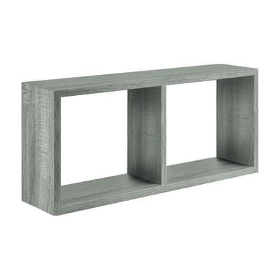 Rettangolo con ripiani Spaceo rovere grigio L 70 x P 23,7, sp 2,2 cm