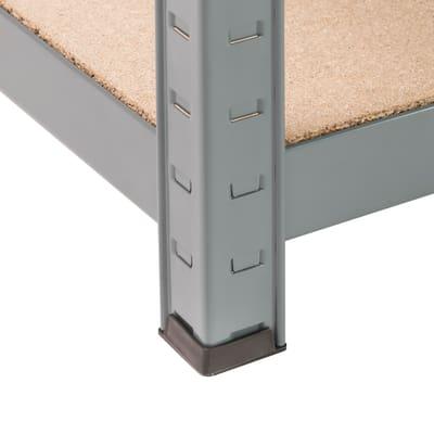 Scaffale metallo grigio Spaceo 5 ripiani in legno L 100 x P 50 x H 196 cm