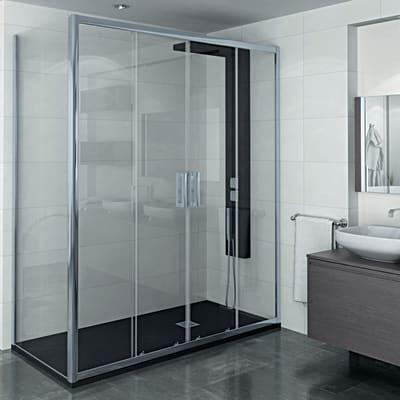 Porta doccia scorrevole manhattan 156 160 h 200 cm for Offerte cabine doccia leroy merlin