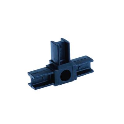 Innesto tubo quadro T a T nero 20 x 20 mm