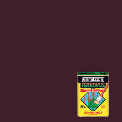Smalto per ferro antiruggine Saratoga Fernovus marrone satinato 0,75 L