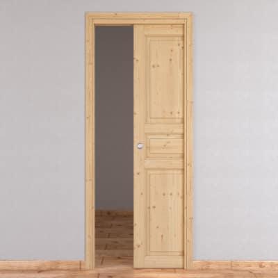 Porta da interno scorrevole Beethoven grezza 80 x H 210 cm reversibile
