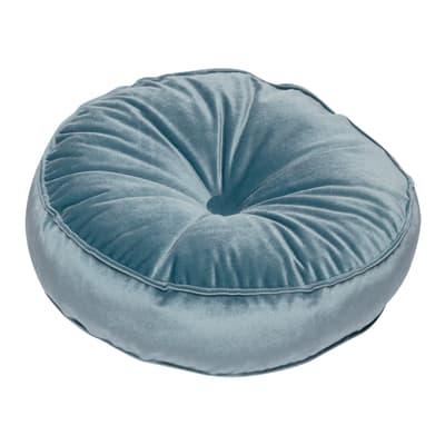 Cuscino Velluto azzurro 38 x 38 cm