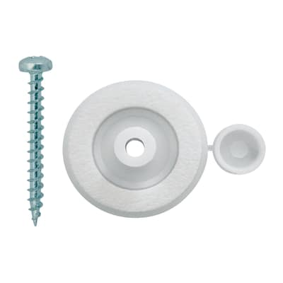 Rondellone con vite per policarbonato Onduline bianco ø 10 x 60 mm, confezione da 10 pezzi