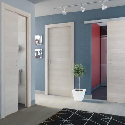Porta da interno scorrevole One ecrù 80 x H 210 cm reversibile