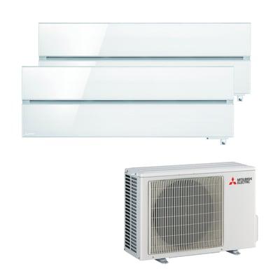Climatizzatore fisso inverter dualsplit Mitsubishi LN 9000 + 12000 BTU classe A+++ bianco