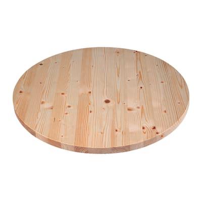 Piano tavolo tondo legno Ø 60 cm grezzo