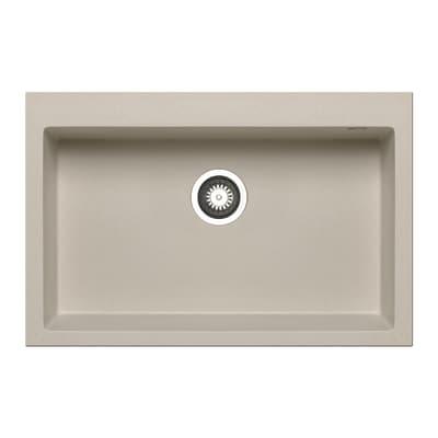 Lavello incasso Voyager beige L 76 x P  50 cm 1 vasca