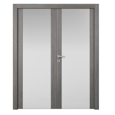 Porta da interno battente Starwood 2 Ante Pietra 180 x H 210 cm sx