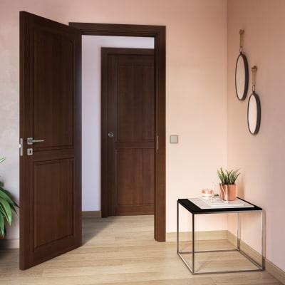 Porta da interno scorrevole Lugano noce 70 x H 210 cm reversibile