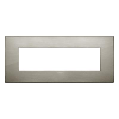 Placca 7 moduli Vimar Arké acciaio spazzolato