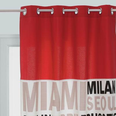 Tenda In the city rosso 140 x 270 cm
