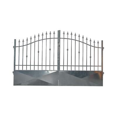 Cancello zincato Stromboli L 350 x H 150/180 cm