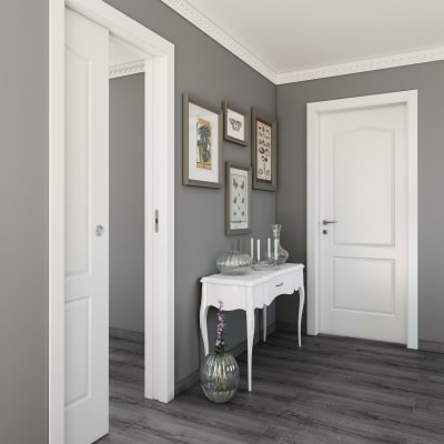 Porta da interno scorrevole Ipanema bianco 70 x H 210 cm reversibile