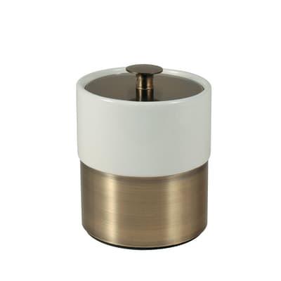Porta cotone Modena bianco/bronzo