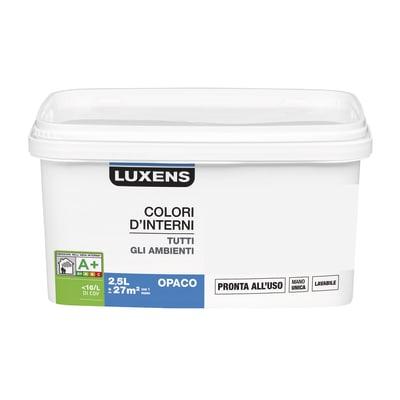 Idropittura lavabile Mano unica Bianco Avorio 5 - 2,5 L Luxens