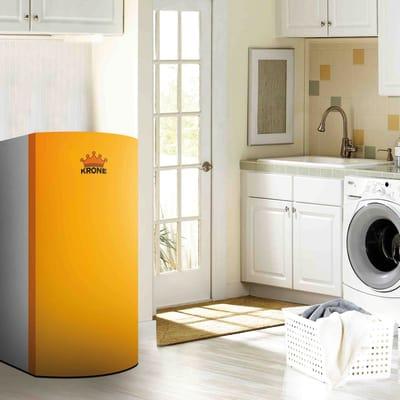 Caldaia a pellet Krone BOILER28KR 24,5 kW arancio e grigio