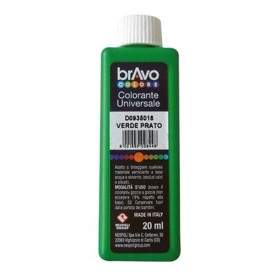 Colorante iperconcentrato ad acqua Bravo verde oliva 20 ml