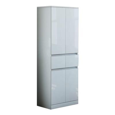Colonna Elise bianco 4 ante, 2 cassetti L 60 x H 156 x P 33,5 cm