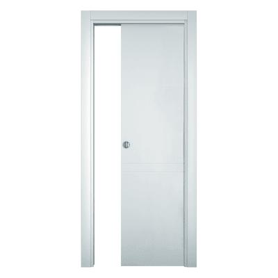 Porta da interno scorrevole Rail bianco 80 x H 210 cm reversibile