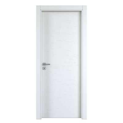 Porta da interno battente Flower silk 80 x H 210 cm dx